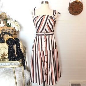 NEW Gianni Bini Striped Jumper Midi Dress